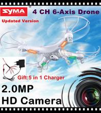 RC Drone SYMA x5C 100% Original 2.4G 4CH 6 Axis helicóptero de controle remoto RC Quadcopter Brinquedos Drone AR.Drone Com câmera HD(China (Mainland))