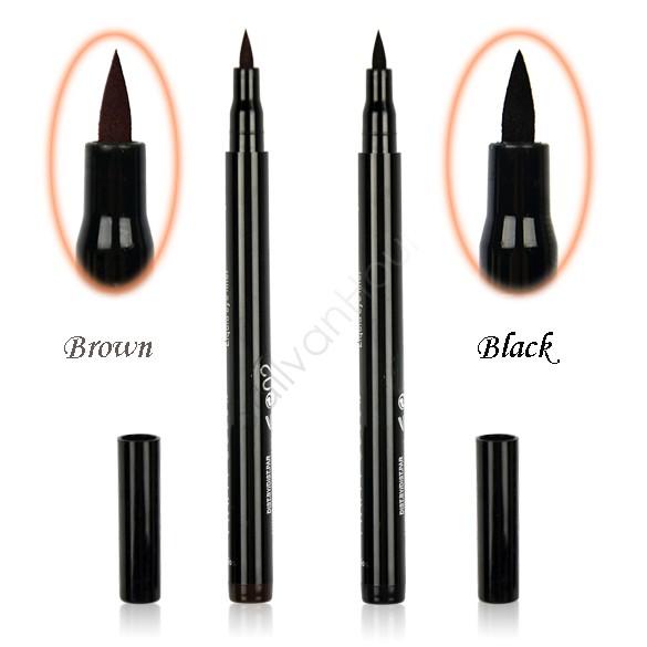 Hot Selling New Design Cosmetics Makeup Not Dizzy Waterproof Liquid Eyeliner Pencil Black/Brown 35(China (Mainland))