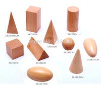 Wooden Montessori Mystery Bag Geometry  Blocks Set Educational Cognitive Toys 10pcs/set