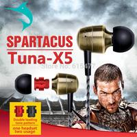 Tuna-X5 copper an headset two kinds of sound balanced professional headphone and Bass headphones Music headphones earphone