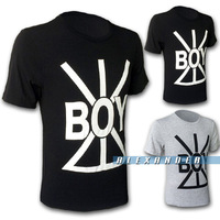 Free Shipping Hot 2014 Spring&Autumn New Brand Fashion BOY Text Printing Short Sleeve T-shirt Men,Men's Casual Tee 2 Color M-3XL