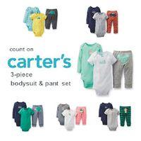 Carters Baby Girls Bodysuits set  ,roupas de bebe  baby girl Short & Long Sleeve Bodysuit , girl spring and autumn wear