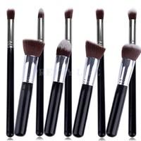 Best Quality 9pcs Premium Synthetic Kabuki Makeup Brush Set Professional Cosmetics Foundation blending brushes b8 CB023246