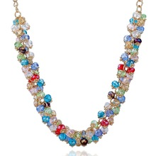 Hotting Sale Fashion Brand Necklace Gold Plated Chain SWA Elements Austrian Crystal Beads Choker Necklaces & Pendants SNE140271