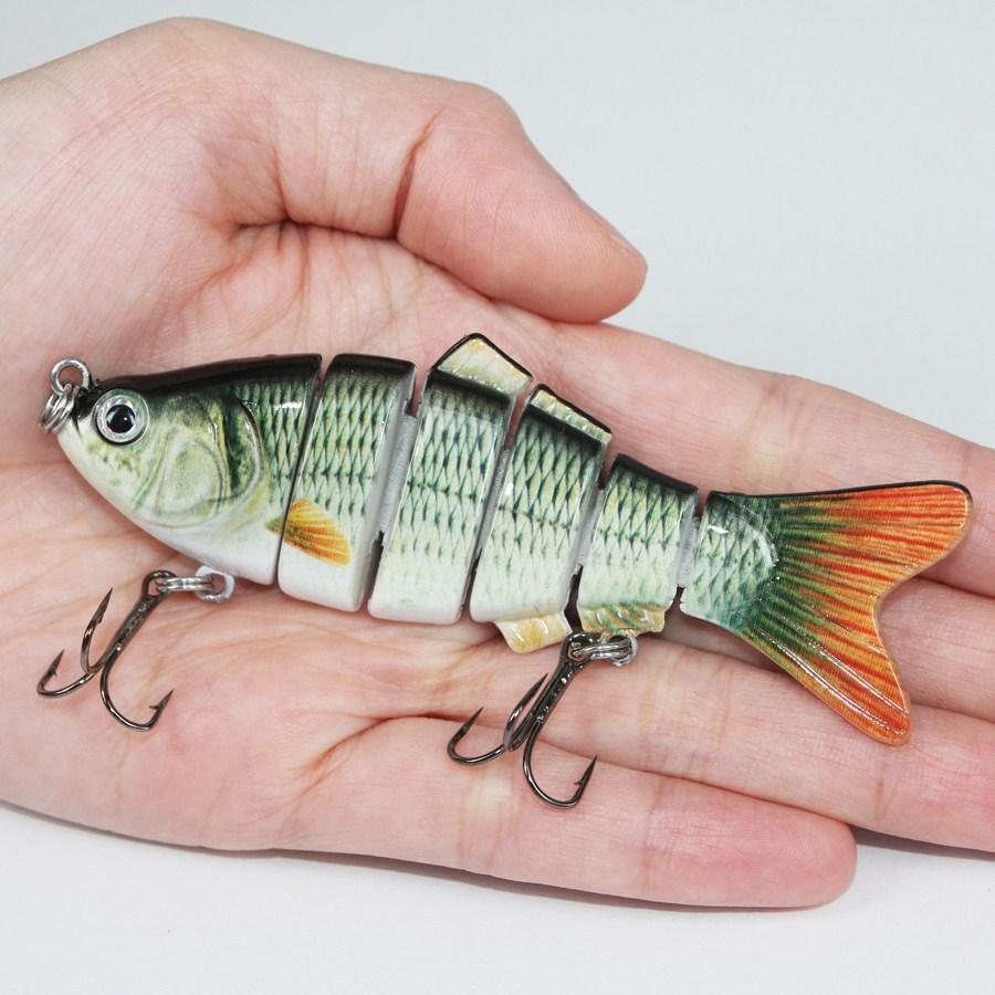 Fishing Lure 6 Segment Swimbait Crankbait Hard Bait Slow 18g 10cm with 6# fishing hook FL6-S02(China (Mainland))