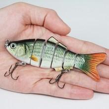 isca de pesca crankbait 6 segmento swimbait isca dura lento 18g 10cm com anzol fl6-s02 6#(China (Mainland))
