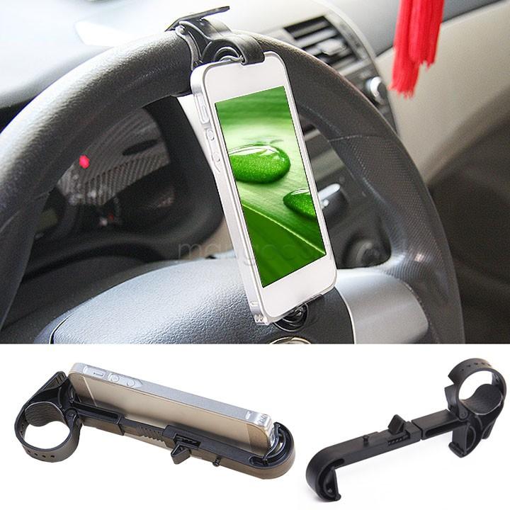 New Multifunction Car phone holder steering wheel mobile Vehicle navigation holder Car GPS rest supplies Creative 35(China (Mainland))