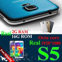 "Waterproof S5 phone 2G RAM 16G ROM 1:1 I9600 Mobile phone 5.1"" IPS  MTK6592 Octa Core MTK6582 Health care Smartphone Fingerprint"