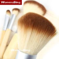 2015 Hot Sale 4 Pcs Earth-Friendly Bamboo Elaborate Makeup Brush Sets Cosmetic Makeup Brushes Tool Set Promotional Wholesale