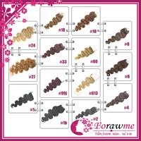 Human hair brazilian micro ring loop hair extensions body wave 100g(1g/strand) 100beads #1 black #27 honey blonde Forawme hair