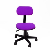 Fashionable Design Office Lift Chair Simple Style 360 Degree Swivel Chair Purple Office Chair with Fabric Pads Computer Chair