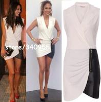 Hot Sale Women Celebrity New Fashion Elegant Patchwork Sexy Women Mini Dresses