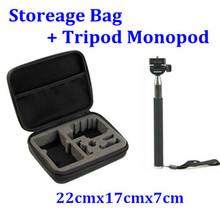 Selfie Extendable Stick Monopad Handheld Tripod Monopod ShockProof Camera Bag Case for Gopro Hero3 2 4 accessories Black Edition(China (Mainland))