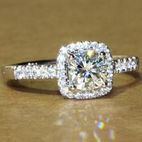 CPP  FOREVER BRILLIANT 1 CT Cushion Princess Cut Halo Engagement Wedding Rings  Lab Grown Diamond