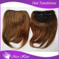25gram-28gram neat hair extensions front hair bangs, side clip fringe of 100% hair natural bang