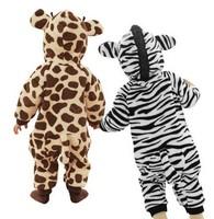 Newborn Lovely Baby Clothes Autumn Winter Baby Clothing Giraffe Elephant Zebra Rabbit Animal Style Baby Romper B11 SV005504