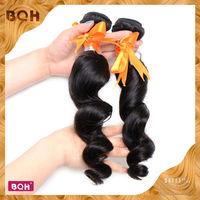 "Hot sales Brazilian Virgin Hair loose weave 3/4pc 12""-28"" natural black 3.5oz/pcs cheap brazilian hair 3 pcs lot free shipping"
