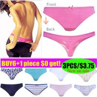 2014 Newest! Multi Sexy G-string woman sexy thong underwear lingerie EU size super cozy cotton 6pcs+1free!
