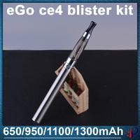 best e cigarette ego ce4 blister kit 1.6ml Atomizer 650mah 900mah 1100mah 1300mah ego battery electronic eGo kits Free shipping