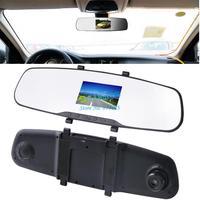New 2.4 HD 720P Car Camera DVR Rearview Mirror dash Camera Car Recorder 120 Wide-angle Lens Auto Video Recorder b8 SV005717