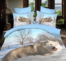 3D bedding sets animal 3d wolf sheet set bed s