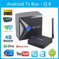 Newest Q8 Android 4.4 TV Box Rockchip 3288 Quad-Core 2GB/ 8GB  Dual Wifi 2.4G & 5.8G Player HDMI Smart TV Mini PC 4Kmovie