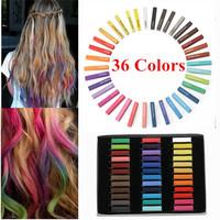 36 Colors Hair Chalk Temporary Pastel Non-toxic Hair Chalk Dye Soft Hair Pastels Kit DIY Crayons for Hair Giz De Cabelo