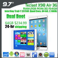 "In stock Teclast X98 Air /X98 Air 3G Intel Quad Core 2.16GHz android 4.4 Tablet PC 9.7"" Retina 2048x1536 Screen 2GB RAM 32GB ROM"