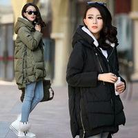 2015 New Women Asymmetric Length Down Coat Female Models Thick Fur Collar Jacket Winter Jacket Women