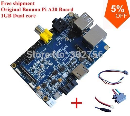 Original High performance Rsp A20 1GB SDRAM Banana Pi cubieboard +sata with Gigabit ethernet port shipment within 1 days(China (Mainland))