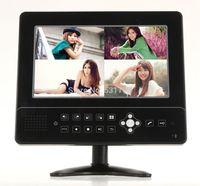 "4ch CCTV Video Camera Surveillance H.264 DVRs Built-in 9"" LCD Monitor Video Intercom Security Alarm LCD CCTV DVR Recorder"