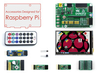 Accessories Pack for Raspberry Pi Model B Plus + 3.5inch RPi LCD + DVK512 Expansion Development Board