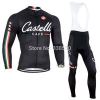 New cycling jersey/ cycling clothing men Long Sleeve+Bib long Pants Bike Clothes Breathable S-3XL
