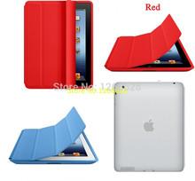 smart cover for iPad 2 iPad 3 iPad 4 case Microfiber Smart Case Original 1:1 Design Tablet Cover For iPad Series(China (Mainland))