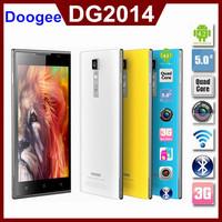 Original Doogee DG2014 5.0'' MTK6582 Quad Core Mobile Phone 1.3GHz 1GB RAM 8GB ROM IPS 1280x720 OGS 13MP WCDMA 3G Dual SIM