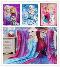 ¡Nuevo! Manta Elsa Anna Olaf Frozen azul púrpura Frozen Movie Manta para Niños Silk Touch Fleece Blanket 100x140cm mayorista(China (Mainland))