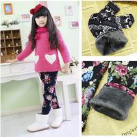 2014 Autumn Winter Kids Girls Leggings/Children BOOTCUTS Thicken Pants Trousers/Fleece Jeggings/2-8Years/Drop Shipping
