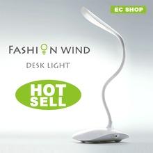 2014 Hot sale LED bulbs white light desk lamp flexional rechangeable touch sensor fashion table light best novelty gift reading(China (Mainland))