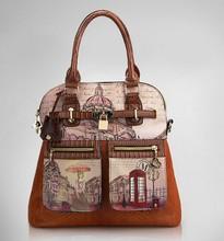 2014 new women messenger bag vintage oil painting bags fashion women shoulder bag women handbag PU