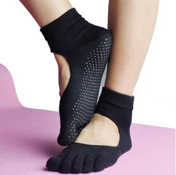 Тренажерный зал йоги носки для мужчин и женщин хлопка обратно профессиональный пять пальцев противоскользящие спинки носки йога спортивные носки оптовая продажа