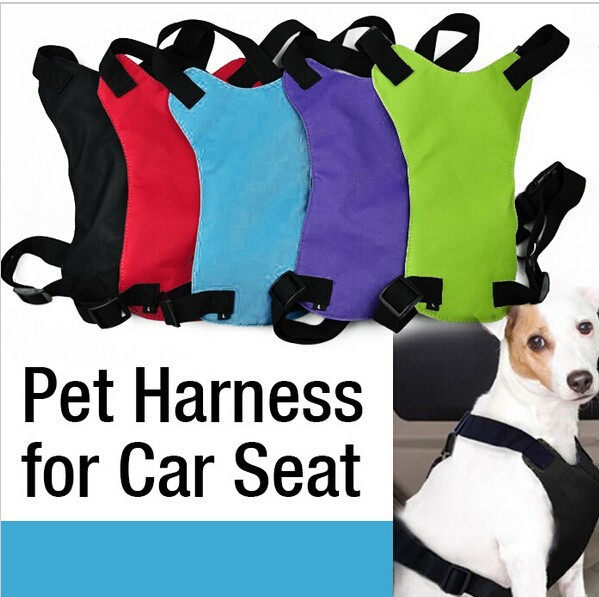 Brand New Black Blue Red Green Purple Dog Cat Pet Safety Seat Belt Fit Vehicle Seatbelt Car Harness Vest Size S M L(China (Mainland))
