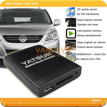 YATOUR Digital Music Changer AUX SD USB MP3 Adapter for VW Radio Delta MFD2 Premium R100 R110 RCD200 RCD210 RCD300 RCD500 RNS300