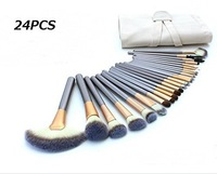 24pcs Makeup Cosmetic Brush Horse Hair Professional Set Brushes Tools Set Kits