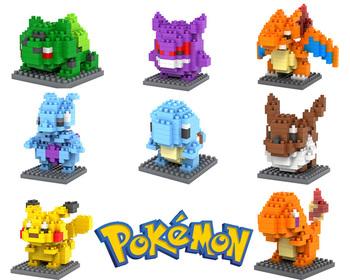Pokemon Figures Model Toys Pikachu Charmander Bulbasaur Squirtle Mewtwochild Child ...