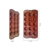 15 even smile chocolate mold food grade silicone mold product cold SOAP handmade soap molds