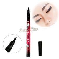 2014 Instant Black Quickly Dry Liquid Eyeliner Pen Cosmetic Eye Liner Pencil Drop Shipping SV22