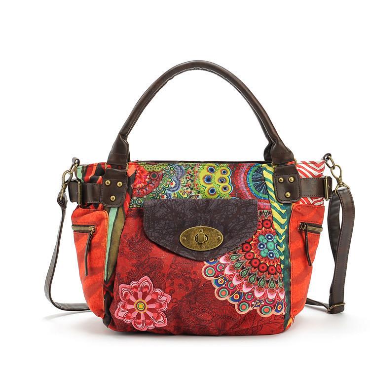 AliExpress.com Product - Bolsas Femininas 2014 Fashion Shoulder genuine leather Women canvas Handbags Cross Body Bag Women Messenger Bag