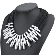 2014 new vintage luxury Brand golden tassels necklaces pendants statement jewelry Women chain accessories wholesale