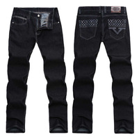 2015 New Style Brand man's jeans / Personalized fashion High quality large size man jeans