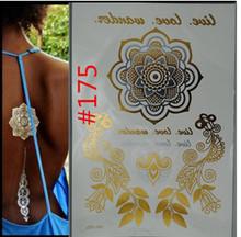 Body art chain gold tattoo temporary tattoo tatoo flash tattoo flash metallic tattoo  jewelry  temporary tattoost stickers